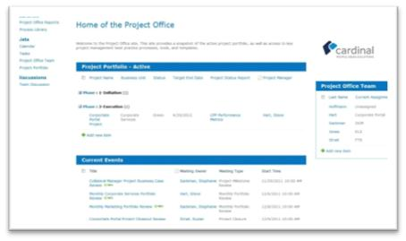using sharepoint for project management